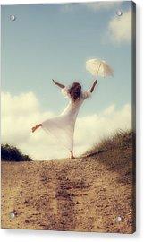 Angel With Parasol Acrylic Print by Joana Kruse
