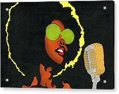 Angela Sings Acrylic Print