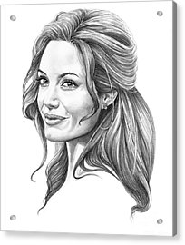 Angelina Jolie Acrylic Print by Murphy Elliott