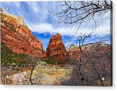 Angels Landing Acrylic Print by Chad Dutson