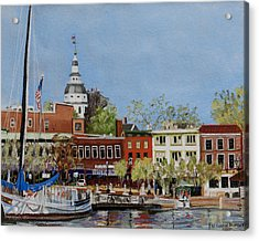 Annapolis Harbor Acrylic Print by Mary Susan Vaughn