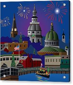 Annapolis Holiday Acrylic Print
