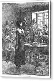 Anne Hutchinson (1591-1643) Acrylic Print by Granger