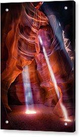 Antelope Canyon's Many Beams Acrylic Print