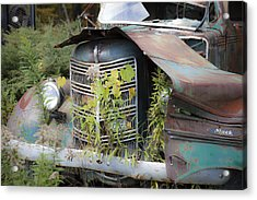 Acrylic Print featuring the photograph Antique Mack Truck by Charles Harden
