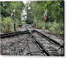 Antique Railroad Track Acrylic Print