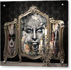 Antique Vampire Paintings Acrylic Print