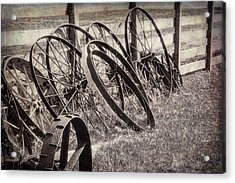 Antique Wagon Wheels I Acrylic Print