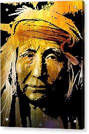 Apache Brave Acrylic Print by Paul Sachtleben