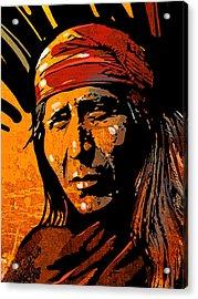 Apache Warrior Acrylic Print