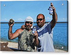 Acrylic Print featuring the painting Apalachicola Gold by Rick McKinney