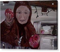 Apple Lady Acrylic Print