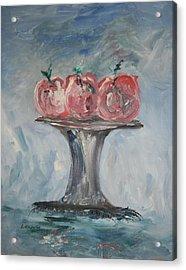 Apples Acrylic Print by Edward Wolverton