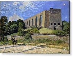Aqueduct At Marly Acrylic Print by Alfred Sisley