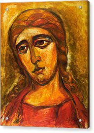 Archangel Gabriel Acrylic Print by Ekaterina  Prozheyko