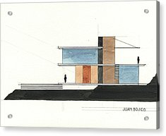 Architectural Drawing Acrylic Print