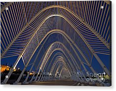 Archway In Olympic Stadium In Athens Acrylic Print