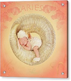Aries Acrylic Print by Anne Geddes