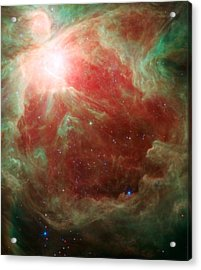 Around The Sword Of The Constellation Orion Acrylic Print by American School