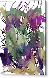 Acrylic Print featuring the digital art Art Abstract by Sheila Mcdonald