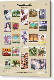 Art Collection Acrylic Print by Renee Womack