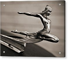 Art Deco Hood Ornament Acrylic Print by Marilyn Hunt