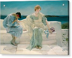 Ask Me No More Acrylic Print by Sir Lawrence Alma-Tadema