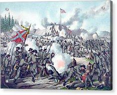 Assault On Fort Sanders Acrylic Print