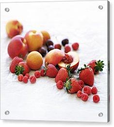 Assortment Of Summer Fruit Acrylic Print by David Munns
