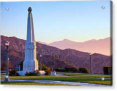 Astronomers Monument In Griffith Park Acrylic Print by Celso Diniz