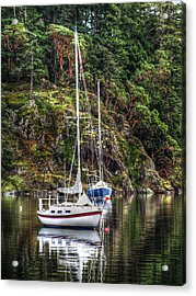 At Anchor Acrylic Print by Randy Hall