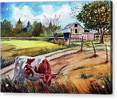 At Home On The Range Acrylic Print by Ron Stephens