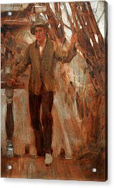 Acrylic Print featuring the painting At The Break Of The Poop  by Henry Scott Tuke
