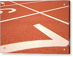 Athletics Track Startline Acrylic Print by Allan Swart