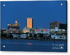 Atlantic City Skyline Acrylic Print by John Greim