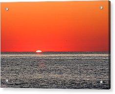 Atlantic Sunrise Acrylic Print by Allan Levin