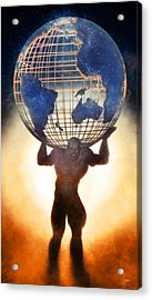 Atlas And The Luminous Universe Acrylic Print by Quim Abella