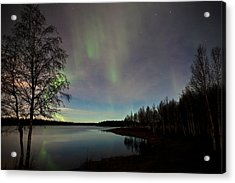 Aurora At The Lake Acrylic Print