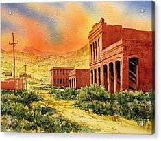 Aurora Ghost Town Nevada Acrylic Print by Kevin Heaney