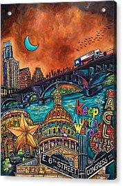 Austin Montage Acrylic Print by Patti Schermerhorn