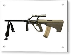 Austrian 5.56mm Steyr Aug Light Support Acrylic Print by Andrew Chittock