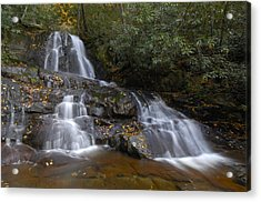 Autumn At Laurel Falls Acrylic Print by Darrell Young
