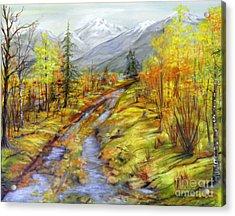 Autumn At The Estuary  Acrylic Print