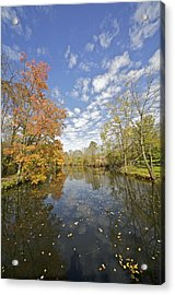 Autumn Colors On The Delaware And Raritan Canal Acrylic Print