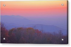 Acrylic Print featuring the photograph Autumn Dawn by Stephen  Vecchiotti