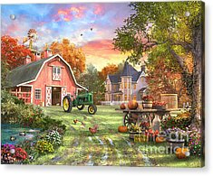 Autumn Farm Acrylic Print
