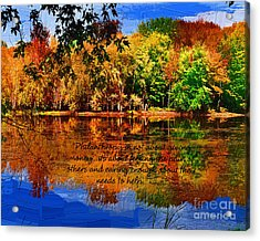 Autumn Serenity Painted Acrylic Print by Diane E Berry