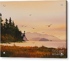 Acrylic Print featuring the painting Autumn Shore by James Williamson