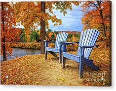 Autumn Splendor Acrylic Print by Edward Fielding