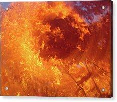 Autumnal Swirl Lll Acrylic Print by Charles Shedd